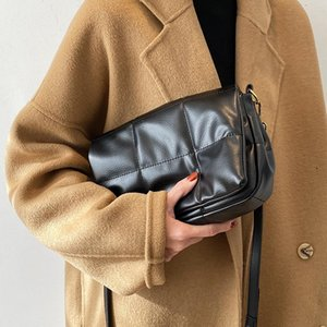 Fashion New Women Handbag Pu Leather Small Square Pack Ins Wild Shoulder Crossbody Bags Casual Tote Simple Messesnger Bag 2021