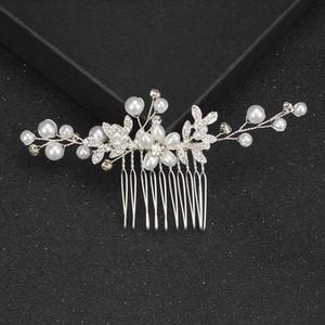 New Ladies Rhinestone Hair Clip Hair Comb Luxury Fashion Handmade Headdress Bride Pearl Comb Wedding Accessories