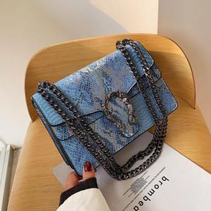 New women's shoulder bag autumn and winter shopping bag high quality snake pattern fashion design womens Messenger