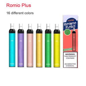 ECIG ROMIO PLUS Dispositivo di Pod monouso Dispositivo pre-riempito Cartridge Vape Stick Style Portable VAPorizer Pen PK PUFF BAR PLUS XXL Air BAR