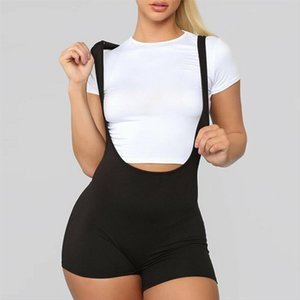 New Fashion Casual Women Seamless Spandex Solid Summer Racerback Catsuit Jumpsuit Bodysuit Bib Pants Casual Rompers Trousers
