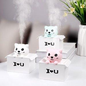 Eloole 330ml Lucky Cat USB Humidificador Air Diffuser Mini Mist Mist Maker con luces LED Oficina portátil Silencio Purifier1