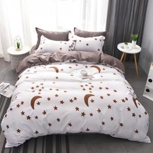 YUXIU CLÁSCICA CONJUNTO DE CASAS 11 STAR STAR Moon Bed Roupa 4 pcs / Set Duvet Cobertura Set Cama AB Side Devet Cover Cama T200409