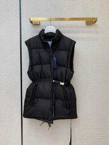 2021 Damenmantel Schwarz Mittellauer Damen Daunenjacke mit abnehmbaren Ärmeln Weste Weste Zipper Daunenjacke mit mehr Abnutzung M-XL