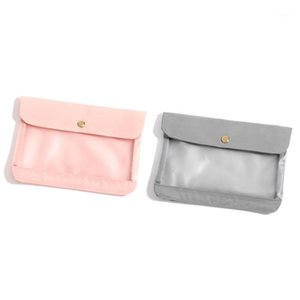 1PC Transparen for Handbag saves to box Organizer case Portable Storage Face Masks Bag Clip Dust Travel Small cover Makeup1