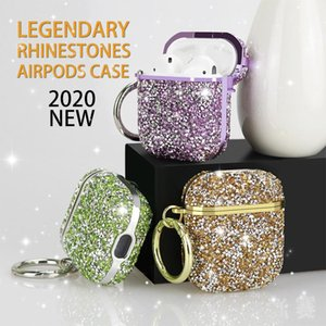 Diamond Airpod Case Bling Earphone Full Cover Protector Headphone Bag for Apple Bluetooth Wireless Charging Headset with Retail Box
