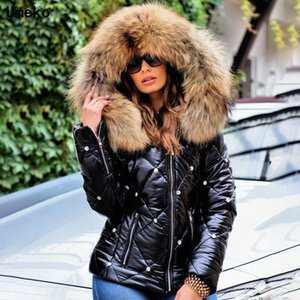 Umeko Winter Parkas Women Pure Color Fashion Jacket Coat Casual Thick Warm Short Hooded Outerwear Female Zipper Winter Coat 201123