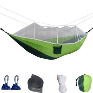 Camping Tent, Hammock with Mosquito Net, Portable Parachute Double Hammock Tents, for Outdoor Hiking Backpacking Travel