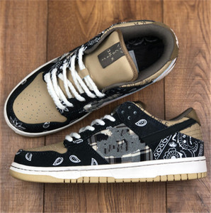 Hot Travis Scott x Skate Board Low Men Shoes Outdoor Sports Running Shoe Cactus Jack Sneakers Women Trainers