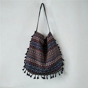 새로운 빈티지 보헤미안 프린지 숄더 가방 여성 Tassel Boho Hippie Gypsy Fringed Women 's Handbags 오픈 가방 가방