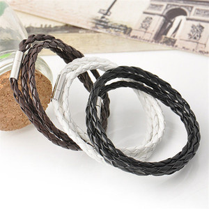 Luxury Jewelry lovers Bracelet men's multi-layer woven twist bracelet leather rope bracelet for men and women