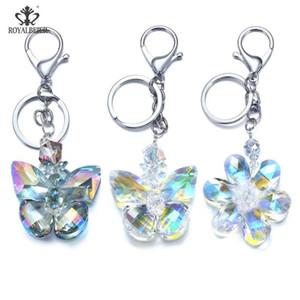Multicolor Crystal Butterfly Catena portachiavi Portachiavi Borsa Borsa Portachiavi Keychain gioielli moda per le donne accessori
