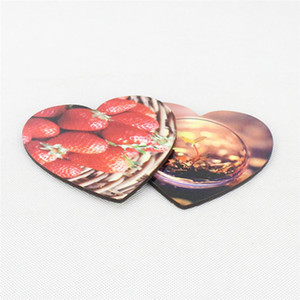 Sublimation Heart Shape Valentines Day Thick Wooden DIY Gift Cup Mat Customized Desk Decoration Cup Pad for Coffee Mug Water Bottle FY4401