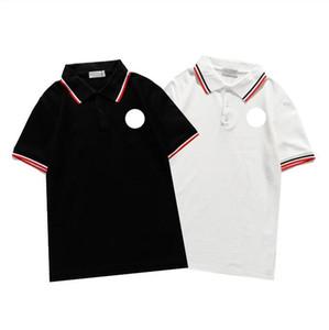 2021 Nueva camiseta de bordado de lujo Moda personalizados personalizados y mujeres diseño camisetas hombre polos hembra de alta calidad negro y blanco100% cottn
