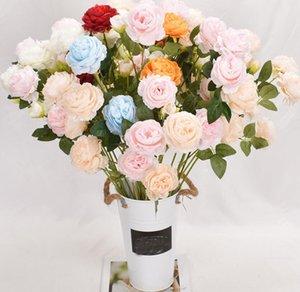 Nuovo arrivo Peony Artifical Flower Flower Branch Tè Rose Bouquet Decorazioni per la casa Fiore Fiore Fiore Fiore Decorazioni Spedizione Gratuita