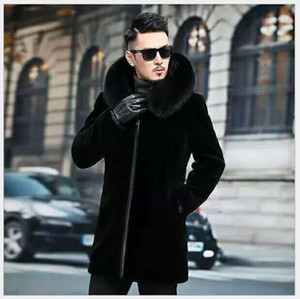 Winter Mens Designer Casacos Hombres Worlbreaker Quente Long Wool Blends Outerwears Casacos Preto Engrossar Casaco M-6XL