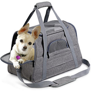 Dog Carrier Bags Portable Pet Cat Dog Backpack Breathable Cat Carrier Bag Airline Approved Transport Carrying For Cats Small
