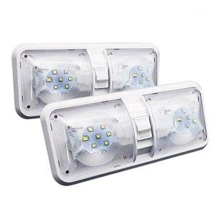 1PAIR RV LED LIGHT 12V 800LM 6000-6500K Потолочный приспособлейный прицепный прицеп Marine Double E Light 48 LEDS1