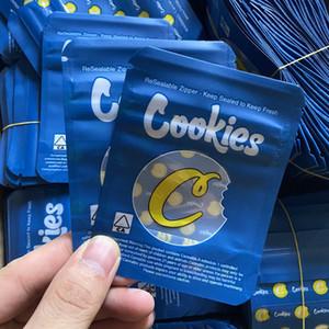 2020 Blu Biscotti Imballaggio Mylar Bags Reseable Edibles Plastica California Biscotti SF 8 ° 3,5 g odore a prova di cermpeggio per bambini con cerniera con cerniera