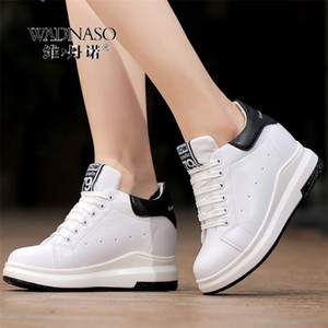 WADNASO Altezza Aumento Scarpe casual Scarpe casual donna Wedge Piattaforma Sneakers Sneakers Lace Up Traspirante Hide Heels Shoes Shoes Shoes Femmina XZ108 201218