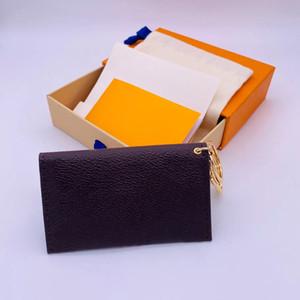 2020 Mode Aufbewahrungstaschen mit Originalkasten und Staubbeutel Männer Frauen Designer Leder Geldbörse Brieftasche Weihnachtsgeschenk Geld Münze Kartenhalter