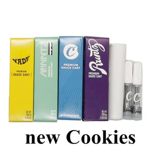 Cookies Carts VapeCartridges 0.8ml Empty Ceramic Vape Pens Thick Oil Cartridges 510 Thread Carts Ecigs Vaporizer Pen newest Packaging