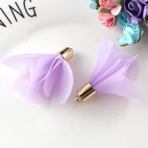 10pcs Mini-Fleurs Mini Fleurs Tassels Fringe Rouge Noir Blanc Gris Accessoires de bricolage Boucles d'oreilles Colliers Consultations de bijoux Pendants H QLYNFC