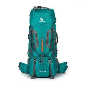 Professional 80L Camping Escursionismo Zaino Viaggio Moochila Grande capacità Sport Mountain Stellill Climbing Bags Pack For Men Women1