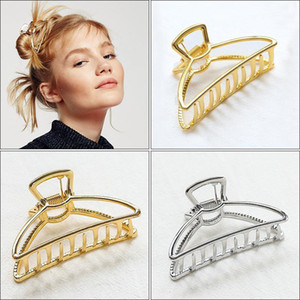 1Pcs Vintage Hair Claw Hair Clips Metal Gold Fashion Accessories For Women Clamps Crab Stylish Geometric clip1