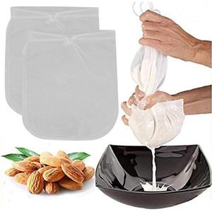 Sacchetto di latte dado lavabile in nylon lavabile filtro in nylon sacchetto riutilizzabile caffè succo di cibo alimento vino soia latte succo di frutta del caffè filtro caffè utensili da cucina LSK2083