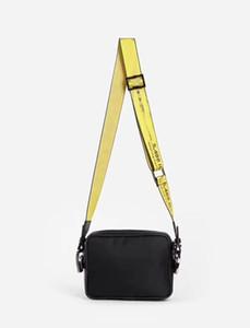 العلامة التجارية البسيطة الرجال قبالة قماش أصفر حزام عالية الأبيض الكتف حقيبة بو الصدر حقيبة الخصر حقائب متعددة الأغراض حقيبة الكتف حقيبة رسول المرأة