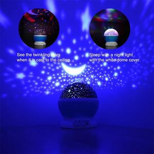 LED Projector Star Moon Night Light Sky Rotating Operated Nightlight Lamp Children Baby Bedroom decoration Gift