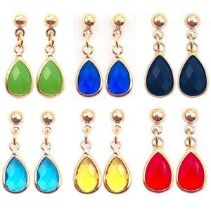 1 Paar Nieuwe Crystal Dangle Oorbellen Rhinestone Glas Koper Zoete Metalen Oor Oorbellen Voor Vrouwen Party Dagelijks Sieraden Gift