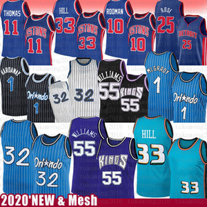 Jason 55 Williams Derrick 25 Rose Grant 33 Hill Basketball Jersey 32 Penny Tracy 1 Hada McGrady Isiah 11 Dennis Thomas Rodman Retro Malla Retro