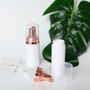 0ml 50ml 80ml cor-de-rosa ouro espuma vazia bomba de mousse garrafas faciais frascos de limpeza frascos shampoo gel pestanas cílios de limpeza de frascos de viagem