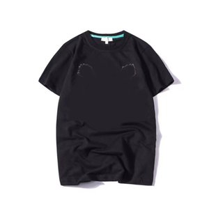 20 s sommer t shirts für männer tiger kopfbrief stickerei t-shirt herren kleidung kurzarm tshirt frauen tops kleidung s-2xl