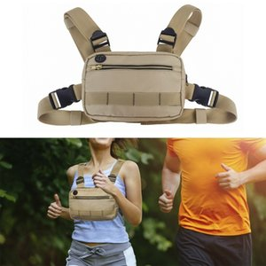 Men Women Running Shoulder Bags Chest Rig Bag Adjustable Crossbody Bags Hip Hop Outdoor Sports Camping Hiking Waist Bag