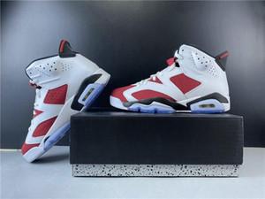 Special New Exclusive 6 Mann Basketballschuhe Weiß Carmine Black VI Fashion Sport Zapatos Sneakers Hohe Qualität Kommen Sie mit Kiste