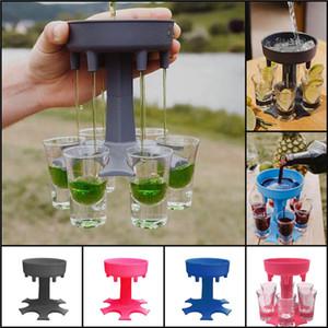 6 Shot Glass Dispenser Держатель Диспенсер для вина Перевозчик Caddy Dispenser Dispenser Вечеринка Питьевые игры Бар Коктейль Вина POLER