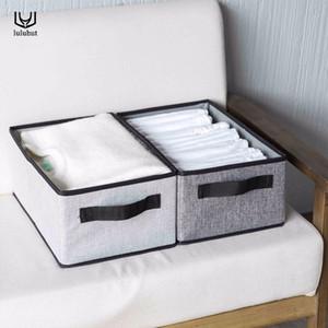 luluhut new washable folding clothes storage box foldable underwear socks bra storage container cotton liene shirts storage box Z1123