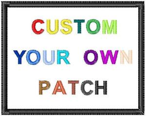 Frete grátis Fast Personalizar Designs Bordado Patches Qualquer tamanho Qualidade Logo Patches Bordados Personalizados Seu Patch Middle