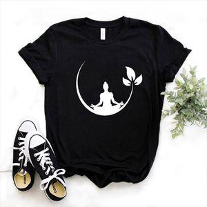 Buddha Yoga Lotos Print Women tshirt Cotton Casual Funny t shirt Gift For Lady Yong Girl Top Tee Drop Ship S 936