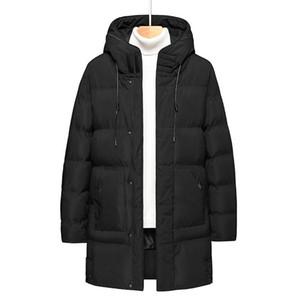 Mens Winter Down Jacket Men 2020 New Plus Size Hooded Warm Shell Waterproof Jacket Casual Windbreaker Long For Men