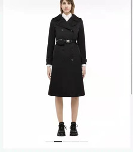 Women Long Jacket Windbraker With Belt Adjust Coat Spring Autumn Jackets Dress Slim Style For Lady Trench Coats With Pockets