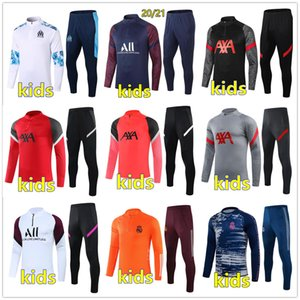 2020 2021 kids football kits 20 21 kids soccer tracksuit football training chándal de fútbol survetement