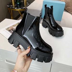 Мода Женская платформа Colulsy Boot Lady Boot Women Boots Mid-Calf Designer Martin Boot Высококачественные сапоги