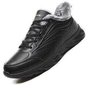Winter Men Boots Waterproof Snow Boots Comfortable Sneakers Men Work Casual Shoes Non-slip Light Rubber Sole Walk Shoes Men 201124