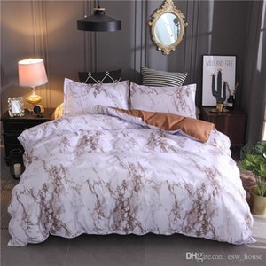 Marble Pattern Bedding Sets Polyester Bedding Cover Set 2 3pcs Twin Double Queen Quilt Cover Bed linen (No Sheet No Filling)