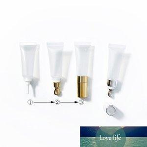 15 мл прозрачный белый мягкий шланг трубки с металлическим массажным головкой крем для глаз косметическая упаковка пустой бутылочный лосьон