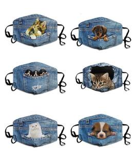Les masques de visage de chat et de chien de nouveau-denim sont des masques en coton à la mode, à la poussière et à coupe-vent sont disponibles pour les hommes et les femmes.